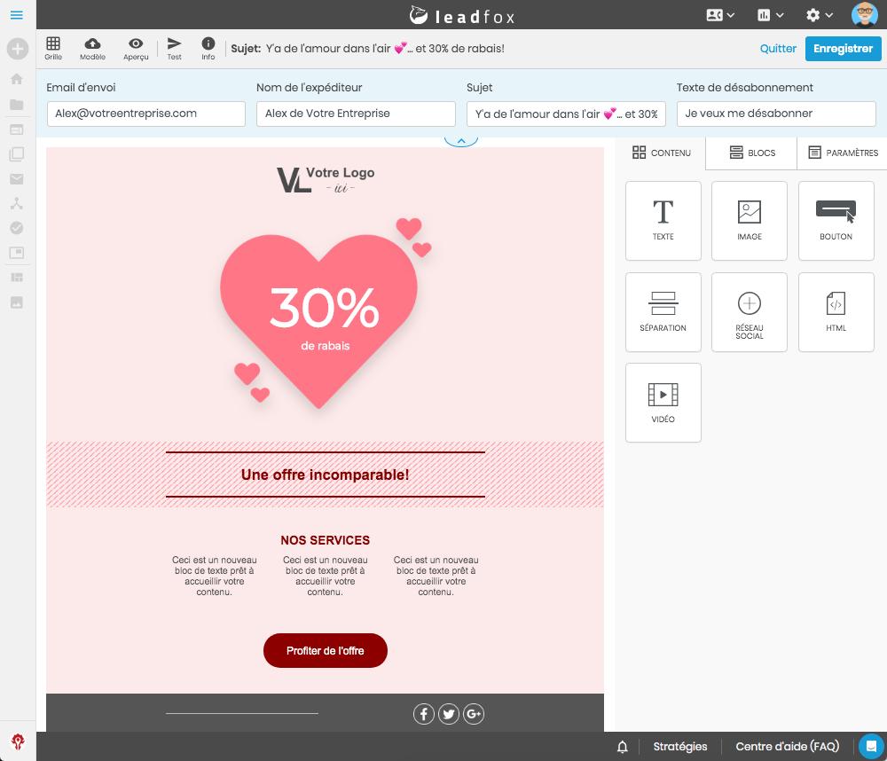 1- bannière lancement email editor leadfox