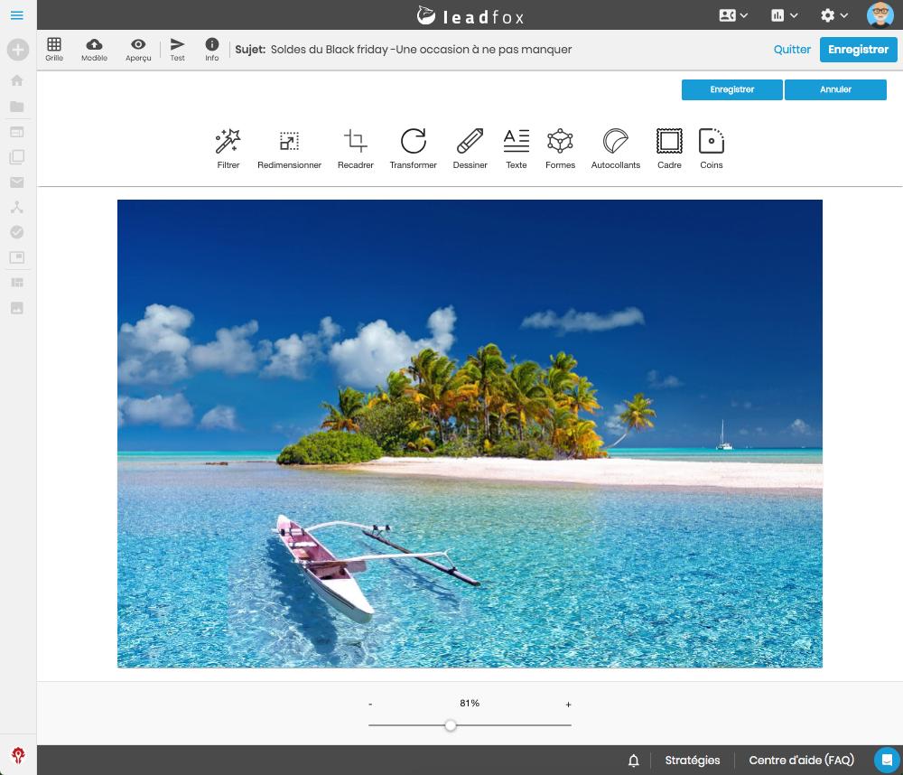 5- bannière lancement image editor leadfox